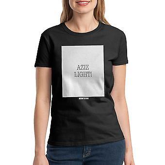 Le cinquième élément Aziz lumière cite T-shirt noir des femmes