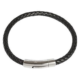 Simon Carter Thin Woven Bracelet - Black/Silver