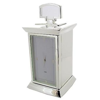 Gift Time Products Art Deco Small Carriage Clock - Silver