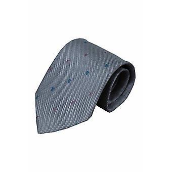 Grijze zijden stropdas Ulmi 01