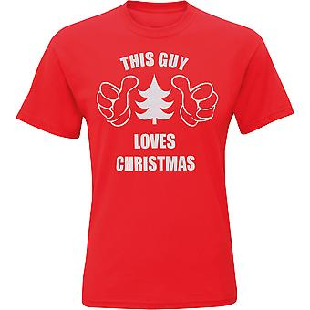 Christmas Shop Mens This Guy Loves Christmas Short Sleeve T-Shirt