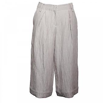 Crea Concept Women's Textured Linen Culottes Trouser