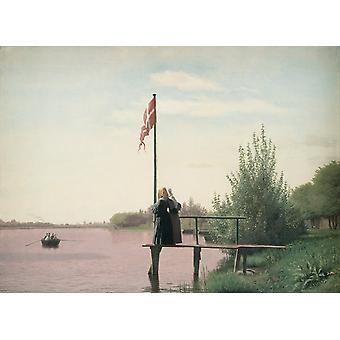 De kust bij Doszation, christen Kobke, 53x 71,5 cm