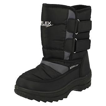 Botas para la nieve refleja Unisex para niños N2013