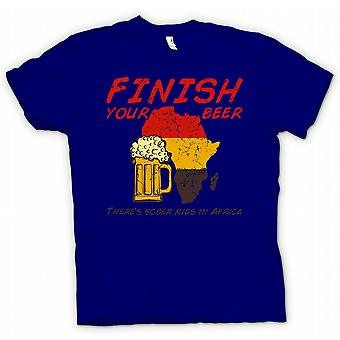 Kids T-shirt - Finish Your Beer Theres Sober Kids In Africa - Funny