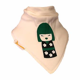 Green geisha doll bandana bib