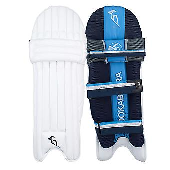 Kookaburra 2019 Rampage 2.0 Cricket Wimper Pads Leg Guards weiss/blau