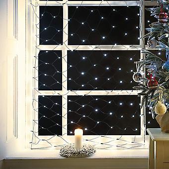 A oficina de Natal 360 LED Chaser net Lights decoração de Natal quente branco