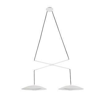 Faro - Slim vit två ljus LED pendel FARO24504
