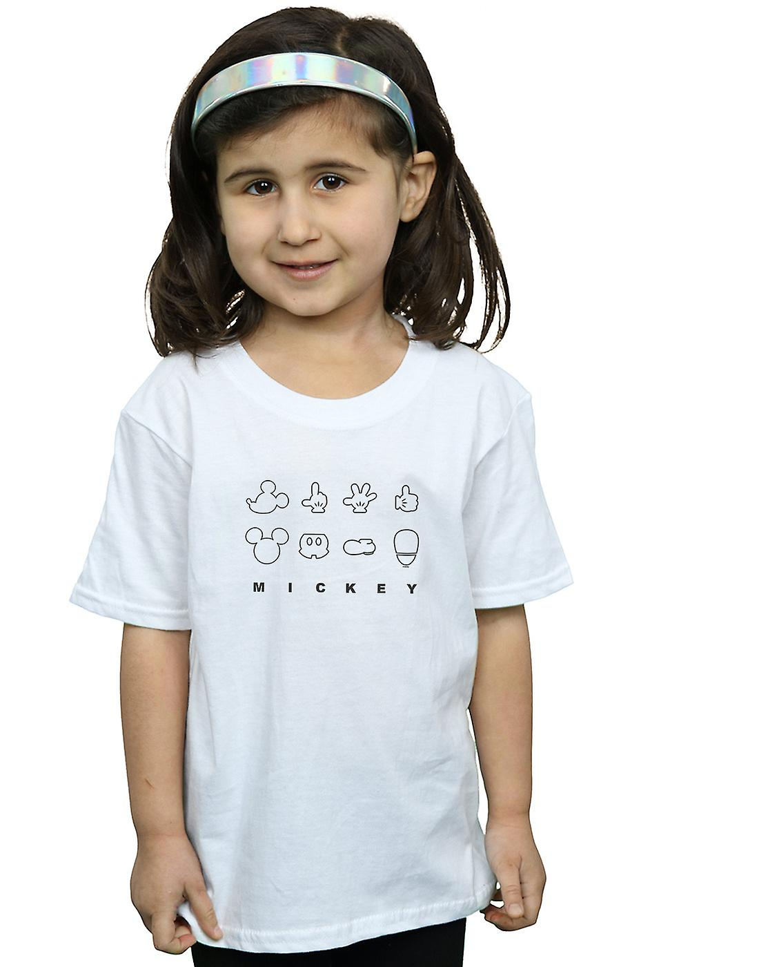 Disney Girls Mickey Mouse Deconstructed T-Shirt