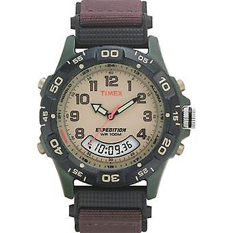Analógico digital Timex T45181SU reloj de pulsera marrón