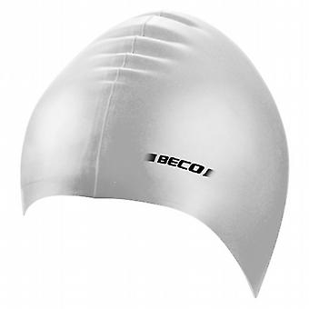 BECO Junior Silicone Swimming Cap - Silver