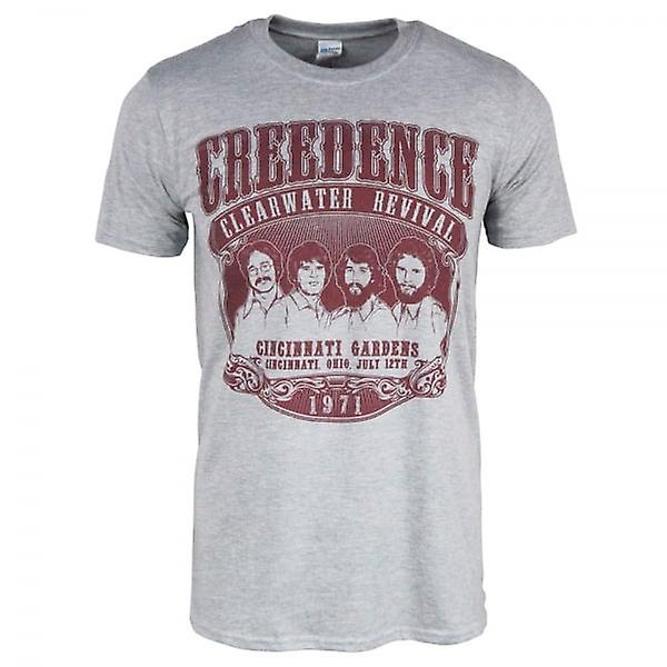 Creedence Clearwater Revival Mens Creedence Clearwater Revival 1971 T-Shirt gris chiné