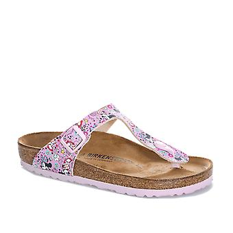 Junior Girls Birkenstock Gizeh Lovely Minnie Sandals In Pink-Slip-On Toe Thong