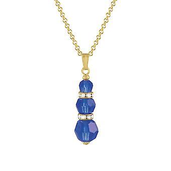 Éternelle Collection Echo majestueux or cristal autrichien bleu ton pendentif