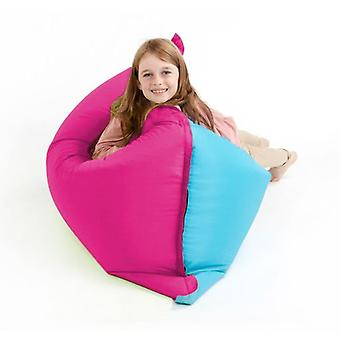 Pink & Turquoise Water Resistant Children's Bean Bag Slab