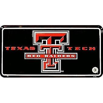 Texas Tech Red Raiders NCAA Black License Plate