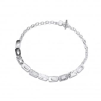 Cavendish French Silver Mix Textured Oblongs Necklace