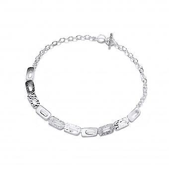 Cavendish französische Silber Mix texturiert Oblongs Halskette