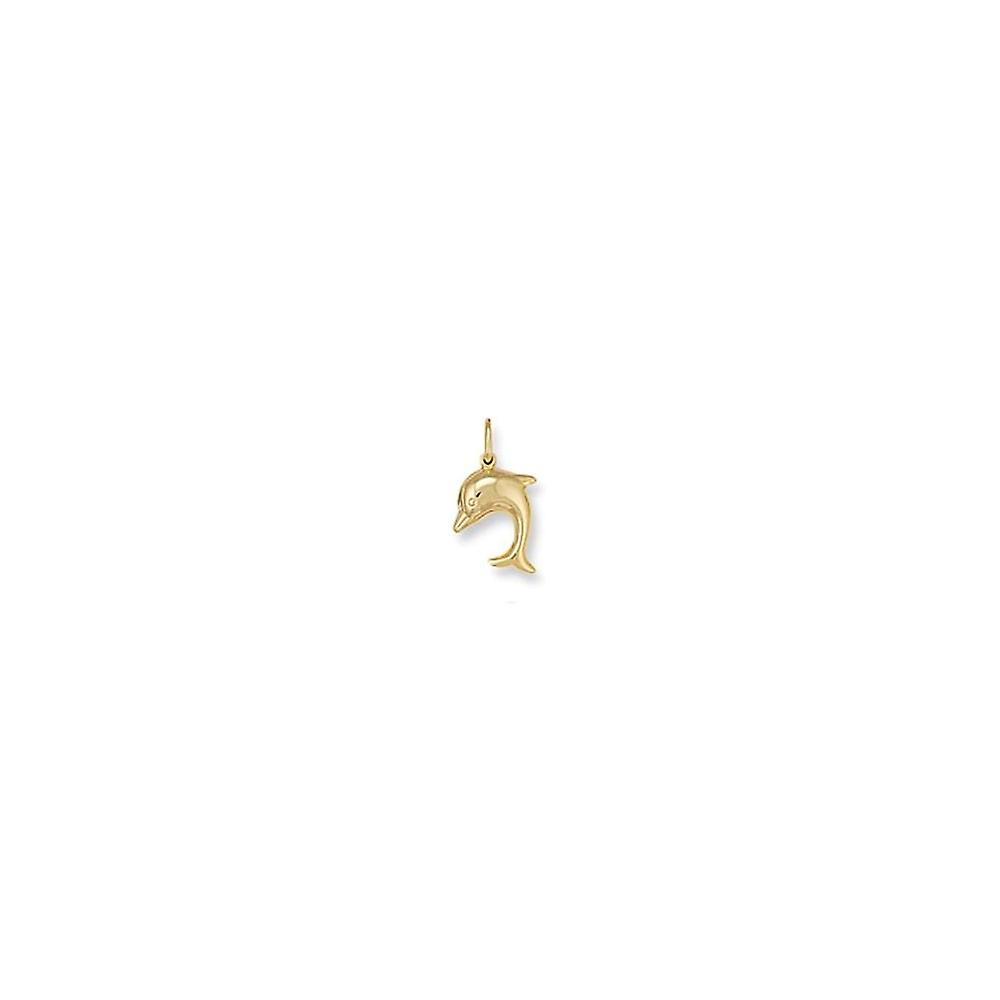 Eternity 9ct Gold Dolphin Charm
