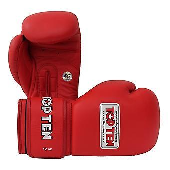 トップ 10 相葉競争ボクシング グローブ 10 オンスの赤