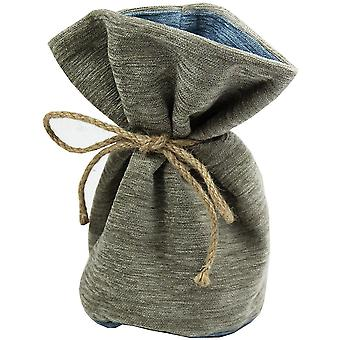 Mcalister textiles alston chenille beige - arrêt de porte bleue