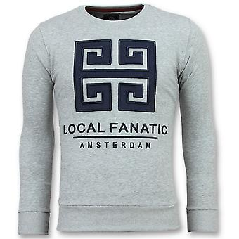 Greek Border - Leuke Sweater - 6350G - Grijs