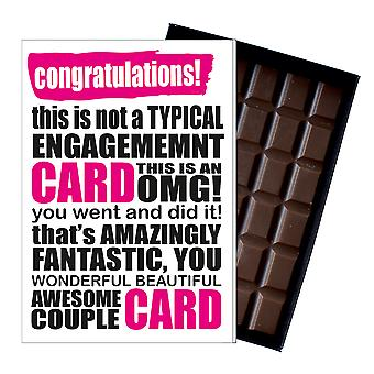 Funny Rude Engagement Gift Novelty Boxed Chocolate Present Card For Couple IYF102