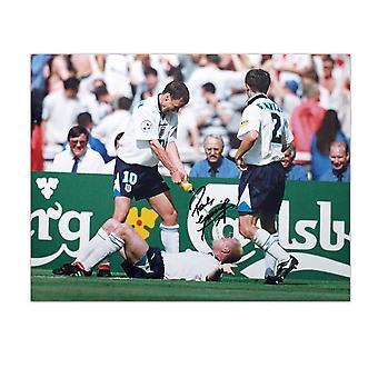 Paul Gascoigne undertecknat England fotboll Foto: tandläkare stol firande