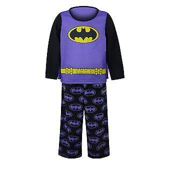 Batgirl Caped Purple Girls Piżama Zestaw