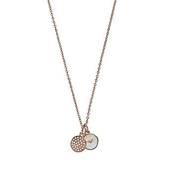 Emporio Armani Women's Chain in Stainless Steel with Crystal and Mother of Pearl Round EGS2158221