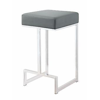 Metal counter height stool, grey