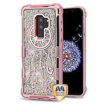 MYBAT Rose goud galvaniseren/Dream Catcher/zilver stroomt sparkles TUFF Quicksand glitter Lite Case voor Galaxy S9 plus