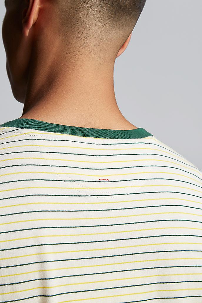 Hymn Wronglane Two Colour Stripe Ringer Shirt Green