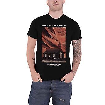 أحضر لي قميص الأفق تي الخاص بك الفرقة الملعونة شعار جديد الرسمية الرجال الأسود