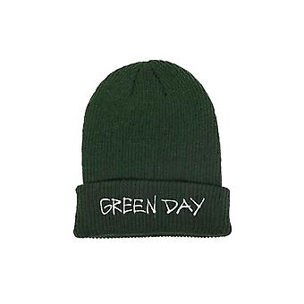 Green Day Beanie Hat Band Logo Revolution Radio new Official Green