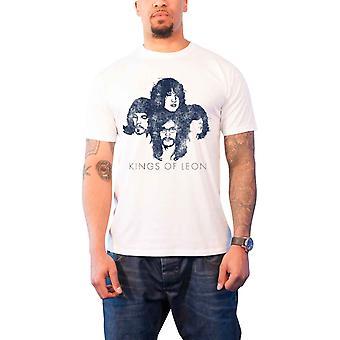 Kings Of Leon Mens T Shirt White Silhouette band logo Official