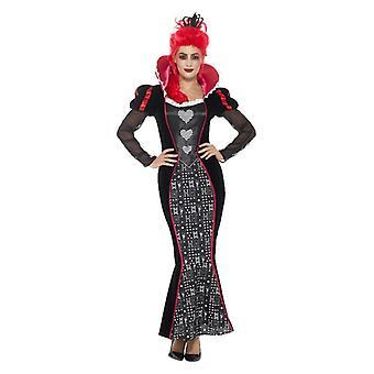 Womens Queen Dark barocco Fancy Dress Costume