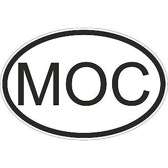 Sticker Sticker Sticker Sticker Flag Oval Code Country Mozambique Mozambique Moc