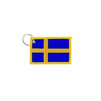 Cle Cles Key Brode Patch Ecusson Badge Swedish Flag