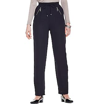 Amber Ladies Crepe Zip Pocket Trouser