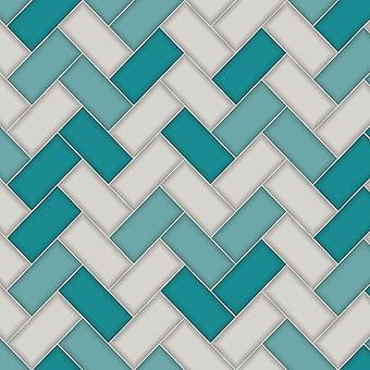Mosaico en un Roll Chevron Azulejo Wallpaper Holden