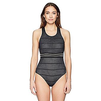 BEACH HOUSE SPORT Women's High Neck One Piece Swimsuit with Racer Back, Block...