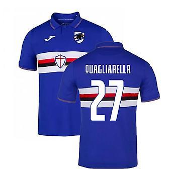 2019-2020 Sampdoria Joma Home Football Shirt (QUAGLIARELLA 27)