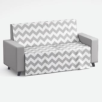 Meesoz Sofa Throw - Grey Zigzag