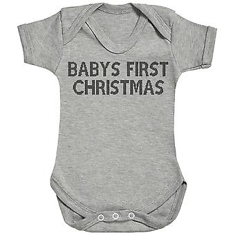 Baby's Frist Christmas Baby Romper / Babygrow