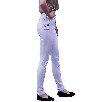 Jeans de mezclilla ceñido de cintura
