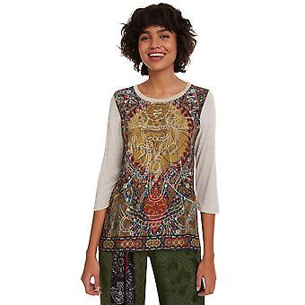 Desigual Women's Rahjan Tshirt Hindu Mythology Inspired