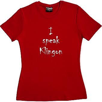 I Speak Klingon Red Women's T-Shirt