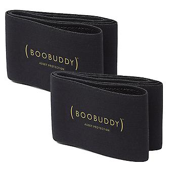 Boobuddy breast support band twin pack – black